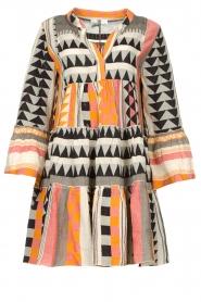 Devotion |  Cotton dress with print Ella | orange  | Picture 1