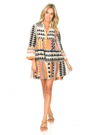 Devotion |  Cotton dress with print Ella | orange  | Picture 3