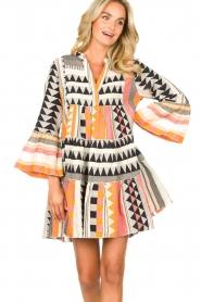 Devotion |  Cotton dress with print Ella | orange  | Picture 5
