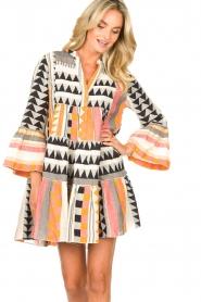 Devotion |  Cotton dress with print Ella | orange  | Picture 2