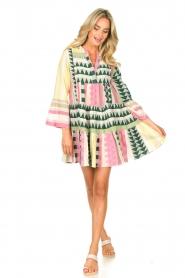 Devotion |  Cotton dress with print Ella | pink  | Picture 3