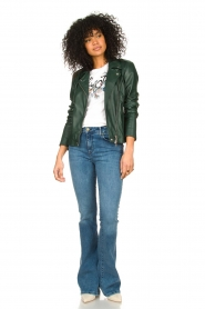 Lois Jeans |  High waisted flare jeans Raval | blue  | Picture 3