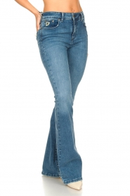 Lois Jeans |  High waisted flare jeans Raval | blue  | Picture 5