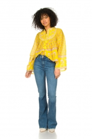 Lois Jeans |  High waisted flare jeans Raval | blue  | Picture 2
