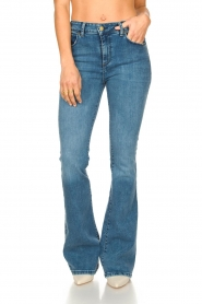 Lois Jeans |  High waisted flare jeans Raval | blue  | Picture 4