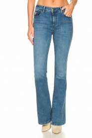 Lois Jeans |  L34 High waist flared jeans Raval | blue  | Picture 6