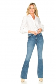 Lois Jeans |  L34 High waist flared jeans Raval | blue  | Picture 2