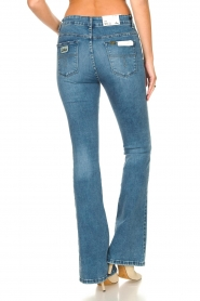 Lois Jeans |  L34 High waist flared jeans Raval | blue  | Picture 8