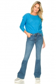 Lois Jeans |  L34 High waist flared jeans Raval | blue  | Picture 4