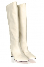 Toral :  High leather boots Christy | white - img3