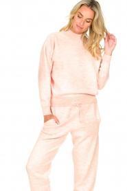American Vintage | Merinowol sweater Tadbow | baby roze  | Afbeelding 4