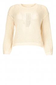 American Vintage |  Cotton broderie sweater Fafpark | ecru  | Picture 1