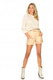 American Vintage |  Cotton broderie sweater Fafpark | ecru  | Picture 3