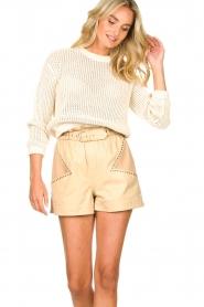 American Vintage |  Cotton broderie sweater Fafpark | ecru  | Picture 4