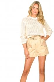American Vintage |  Cotton broderie sweater Fafpark | ecru  | Picture 2