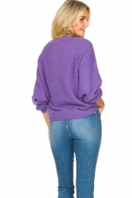 American Vintage |  Knitted sweater with boat neck Nizy | purple  | Picture 7