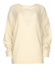 American Vintage |  Knitted sweater with boat neck Nizy | natural  | Picture 1