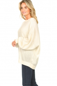 American Vintage |  Knitted sweater with boat neck Nizy | natural  | Picture 6