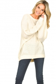 American Vintage |  Knitted sweater with boat neck Nizy | natural  | Picture 5