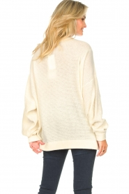 American Vintage |  Knitted sweater with boat neck Nizy | natural  | Picture 7