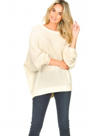 American Vintage |  Knitted sweater with boat neck Nizy | natural  | Picture 4