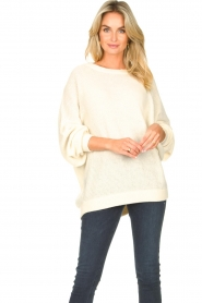 American Vintage |  Knitted sweater with boat neck Nizy | natural  | Picture 2