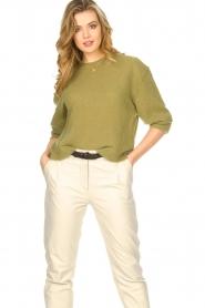 American Vintage | Gebreide sweater Razpark | groen   | Afbeelding 4