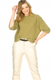 American Vintage |  Knitted sweater Razpark | green  | Picture 2