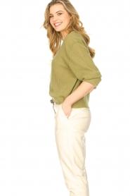 American Vintage | Gebreide sweater Razpark | groen   | Afbeelding 5
