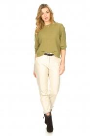 American Vintage | Gebreide sweater Razpark | groen   | Afbeelding 3