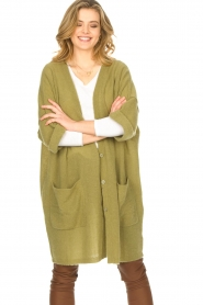 American Vintage    Basic oversized cardigan Razpark   green    Picture 5