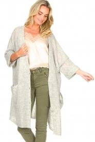 American Vintage |  Basic oversized cardigan Razpark | grey  | Picture 4