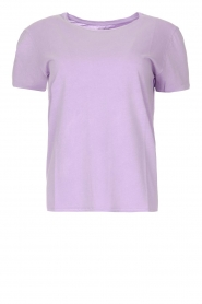 American Vintage |  Cotton T-shirt Vegiflower | purple  | Picture 1