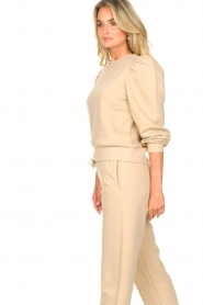 Second Female |  Cotton sweater with puff sleeves Carmella | beige  | Picture 6
