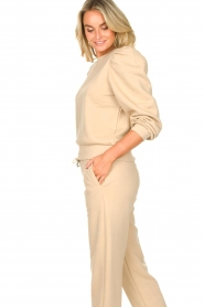 Second Female |  Cotton sweater with puff sleeves Carmella | beige  | Picture 5