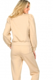 Second Female |  Cotton sweater with puff sleeves Carmella | beige  | Picture 7