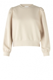 Second Female |  Cotton sweater with puff sleeves Carmella | nude
