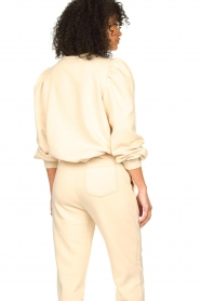 Second Female |  Cotton sweater with puff sleeves Carmella | nude  | Picture 5