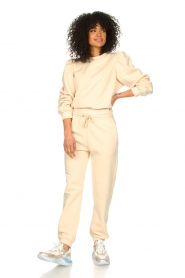 Second Female |  Cotton sweater with puff sleeves Carmella | nude  | Picture 6