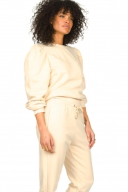 Second Female |  Cotton sweater with puff sleeves Carmella | nude  | Picture 4