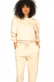 Second Female |  Cotton sweater with puff sleeves Carmella | nude  | Picture 2