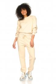 Second Female |  Cotton sweatpants Carmella | nude   | Picture 2