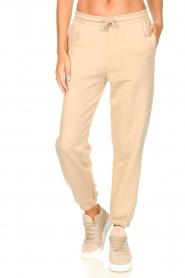 Second Female |  Cotton sweatpants Carmella | beige  | Picture 4