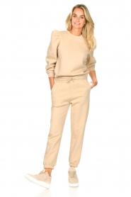 Second Female |  Cotton sweatpants Carmella | beige  | Picture 2