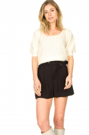Copenhagen Muse |  Knitted top with puff sleeves Diva | natural  | Picture 4