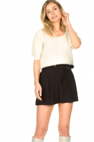 Copenhagen Muse |  Knitted top with puff sleeves Diva | natural  | Picture 2