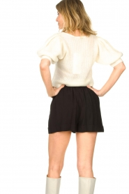 Copenhagen Muse |  Knitted top with puff sleeves Diva | natural  | Picture 6