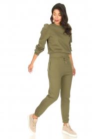 Second Female |  Cotton sweatpants Carmella | green  | Picture 3