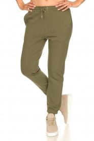 Second Female |  Cotton sweatpants Carmella | green  | Picture 4