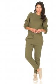 Second Female |  Cotton sweatpants Carmella | green  | Picture 2